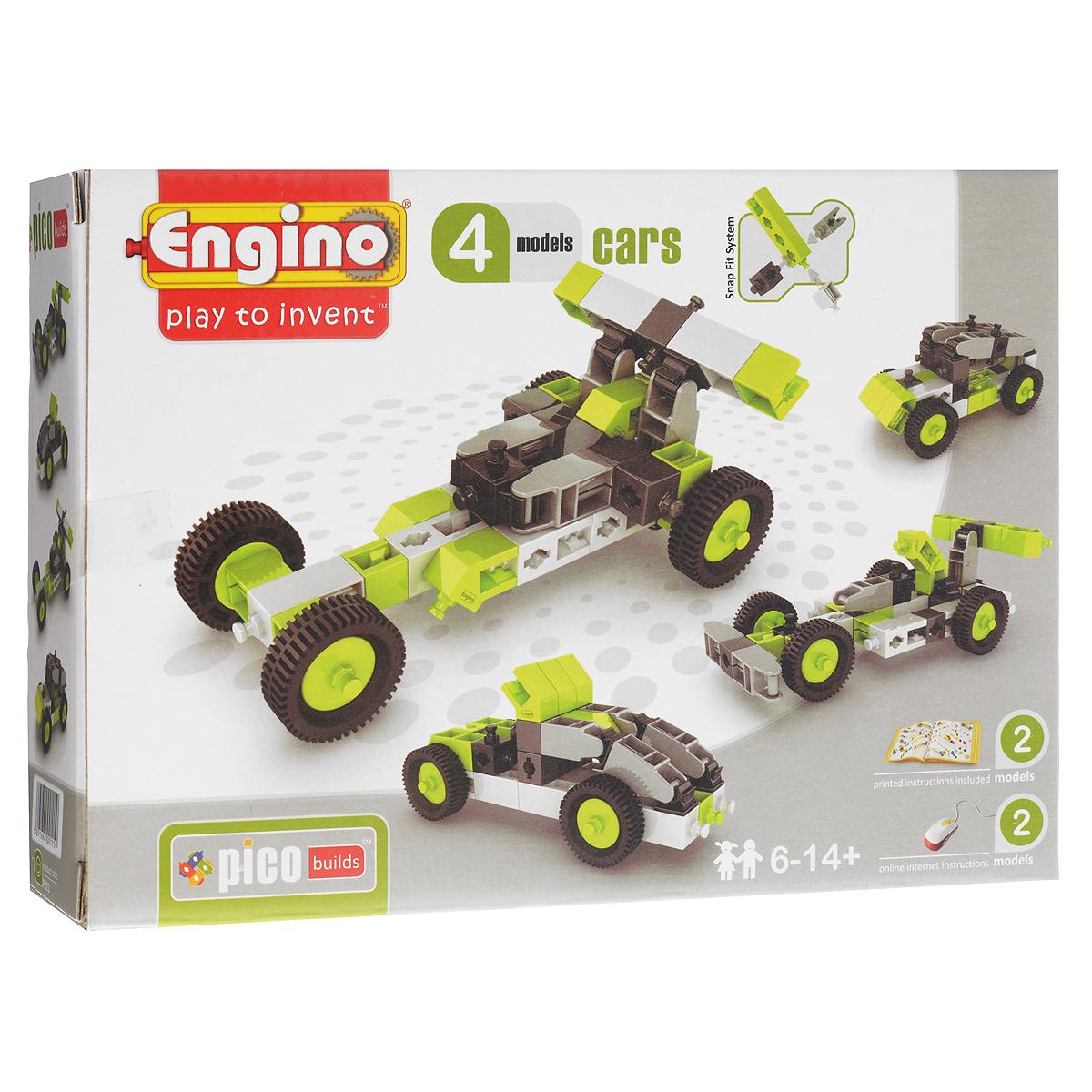 Engino Конструктор Cars 4 models набор для творчества от bondibon и eva moda сверкающие кольца