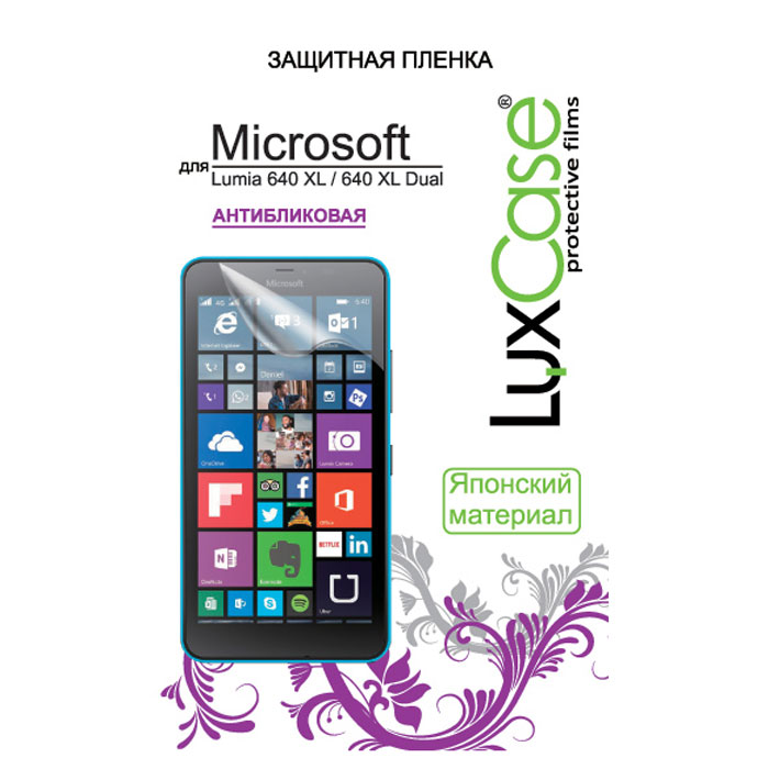 Luxcase защитная пленка для Microsoft Lumia 640 XL/640 XL Dual, антибликовая microsoft cc 3090 для lumia 640 xl blue