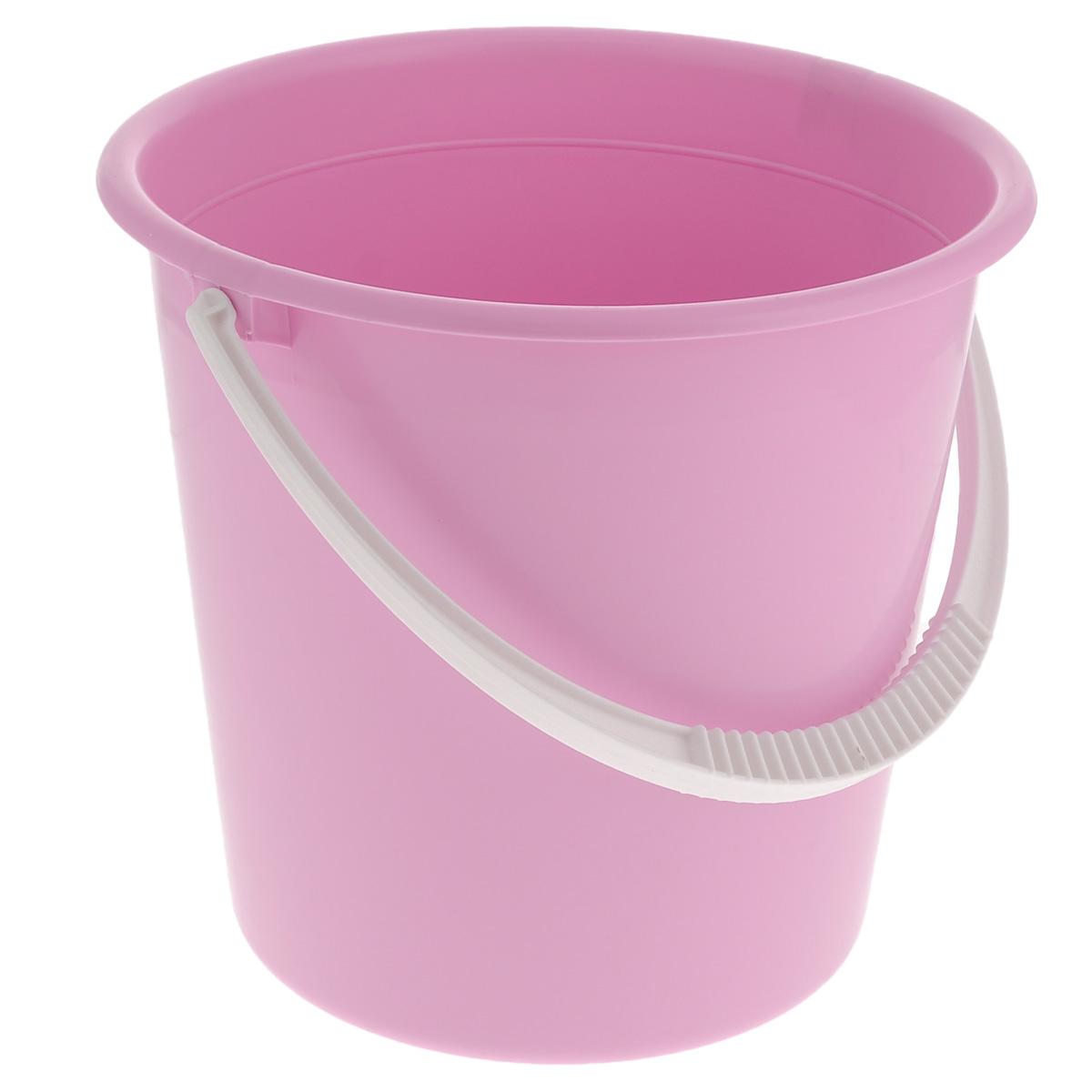 Ведро Альтернатива Крепыш, цвет: розовый, 10 лК117Ведро Альтернатива Крепыш изготовлено из высококачественного одноцветного пластика. Оно легче железного и не подвержено коррозии. Ведро оснащено удобной пластиковой ручкой. Такое ведро станет незаменимым помощником в хозяйстве. Диаметр: 28 см.Высота: 27 см.