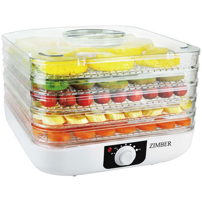 Zimber ZM 11023- это сушилка для овощей, которая позволит вам быстро и качественно обработать овощи и фрукты для хранения. Пять уровней обеспечат удобное размещение продуктов внутри устройства и легкий доступ к ним, а прозрачные стенки корпуса позволят четко видеть, какие овощи внутри. Подбор оптимальной температуры в диапазоне от 40 до 70 градусов, позволит засушить овощи до необходимого состояния. Неоспоримым плюсом является также необычайная простота управления.