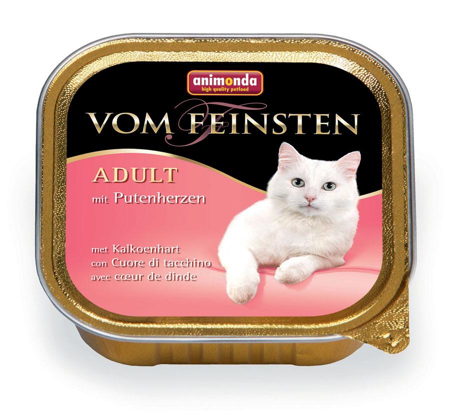 """Консервы Animonda """"Vom Feinsten"""" для взрослых кошек, с сердцем индейки, 100 г"""