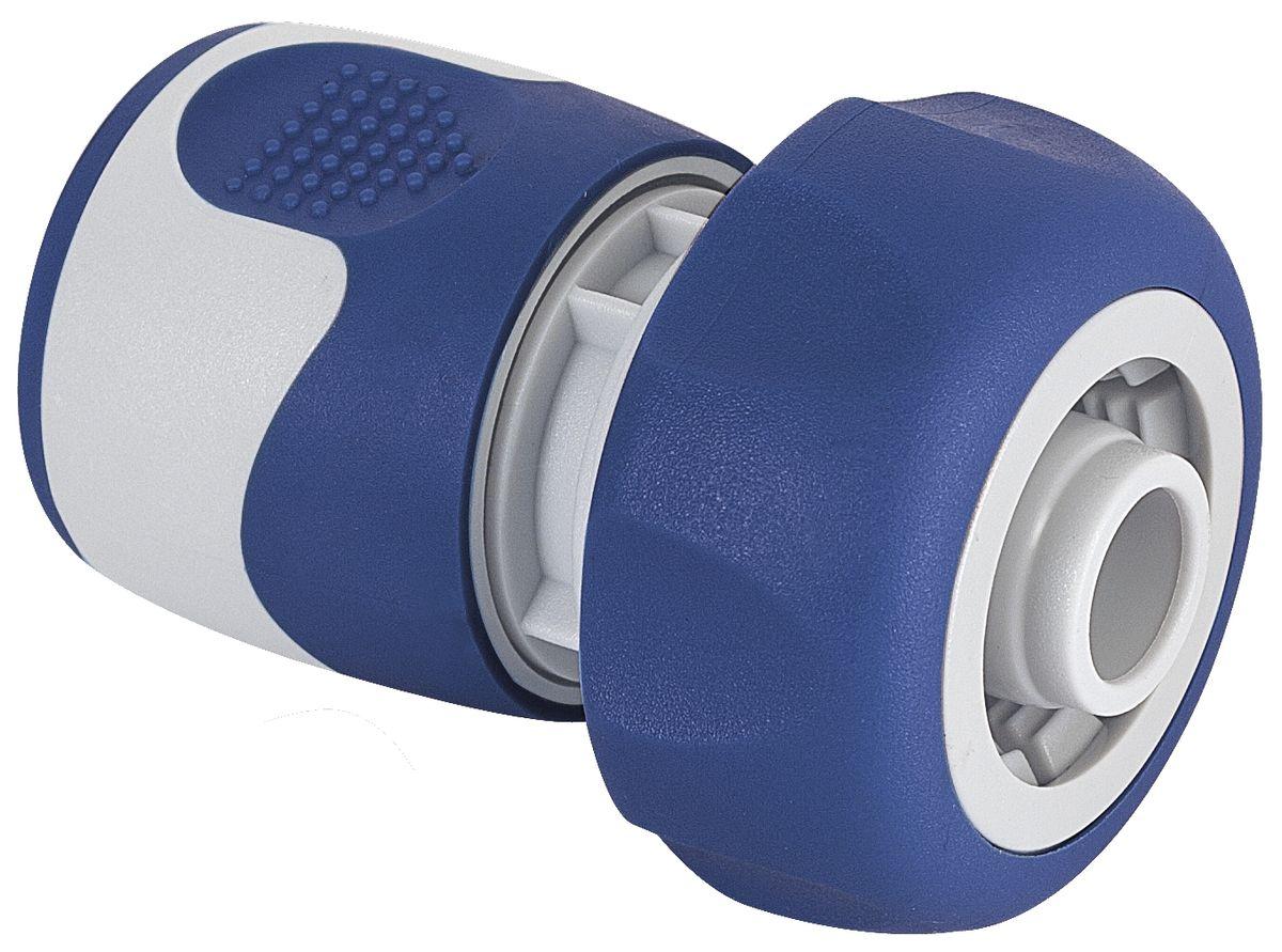 Коннектор Green Apple, для шланга 3/4, цвет: серый, синий коннектор ремонтный для шланга truper пластиковый мама 5 8 3 4