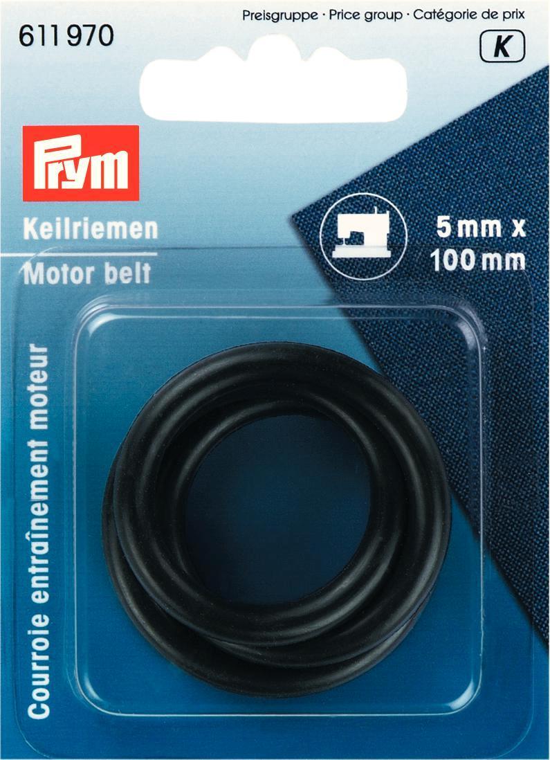 """Ремень клиновой """"Prym"""", для бытовых швейных машин, цвет: черный, 5 мм, 100 мм"""