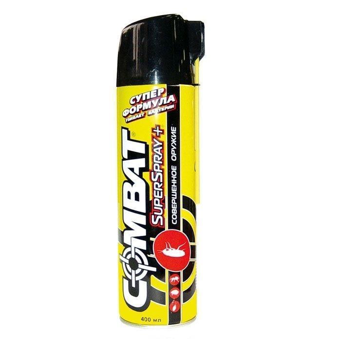 Аэрозоль от насекомых Combat Super Spray Plus , 400 мл полироль пластика eltrans аэрозоль атлантическая свежесть 400 мл