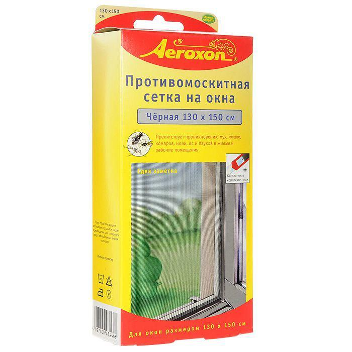 Противомоскитная сетка  Aeroxon , цвет: черный, 130 х 150 см