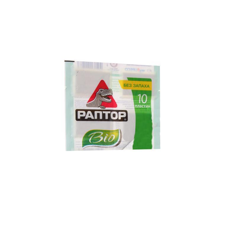 Пластины от комаров Раптор BIO, 10 штD2128M Пластины РАПТОР BIO с экстрактом ромашки специально разработаны для людей с повышенной чувствительностью к химическим компонентам, содержащимся в инсектицидах. В состав формулы входит натуральный экстракт ромашки. Уникальность пластин - в абсолютном отсутствии запаха и особой формуле состава. При нагревании с поверхности пластины РАПТОР BIO с экстрактом ромашки испаряется действующее вещество и надежно защищает от комаров в течение всей ночи. Характеристики: Комплектация: 10 пластин.Производитель: Италия. Артикул: D2128M. Состав: etoc (эток) - 8 мг/пластина, экстракт пиретрума/ромашки, испаритель, краситель, синергист, растворитель. Срок годности: февраль 2014 года.*Действующее вещество etoc разработано и произведено компанией Sumitomo Chemical Co., Ltd. (Япония).