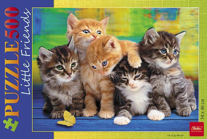 Дружные котята. Пазл, 500 элементов