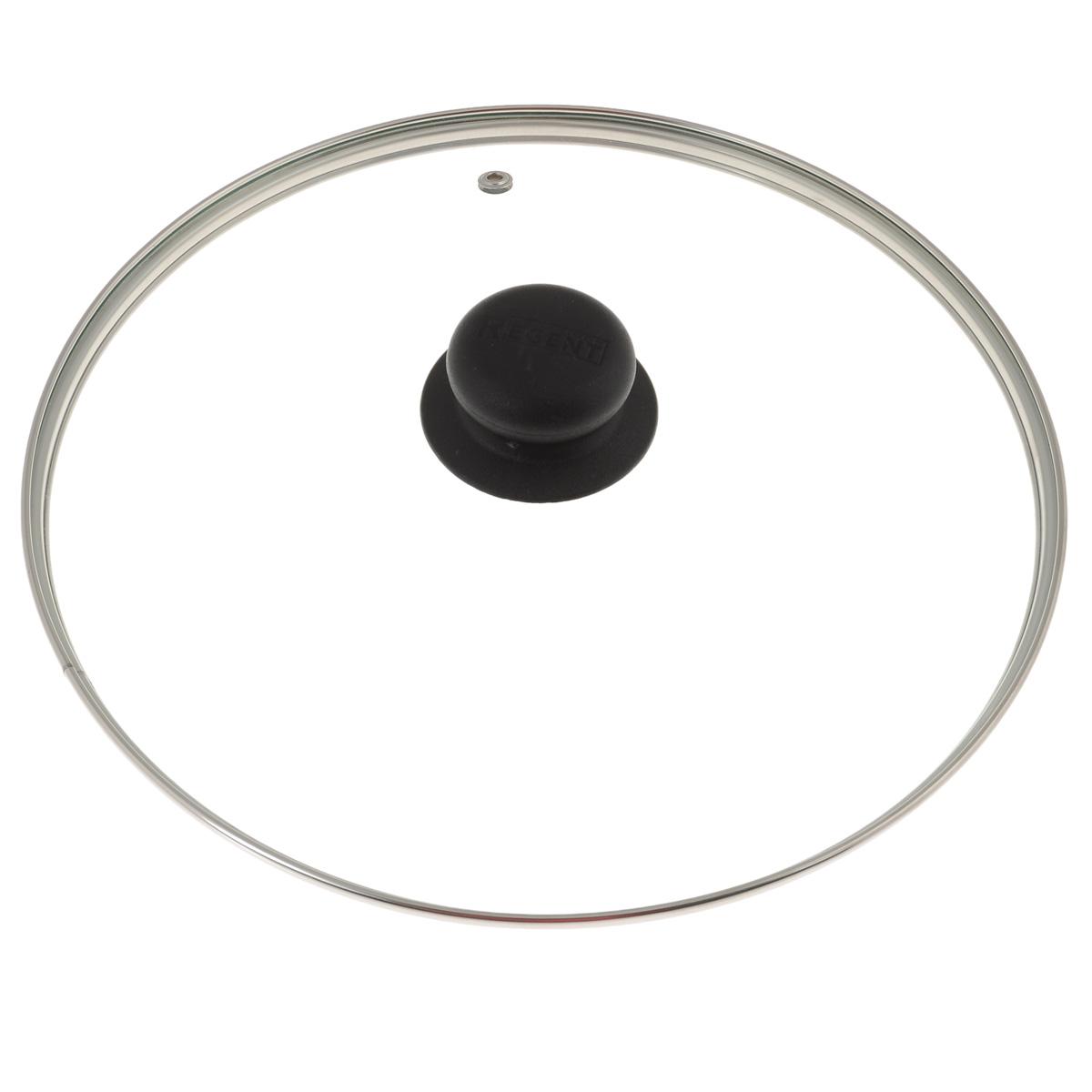 Крышка Regent Inox, стеклянная. Диаметр 26 см93-LID-01-26Крышка Regent Inox изготовлена из термостойкого стекла. Обод, выполненный из высококачественной нержавеющей стали, защищает крышку от повреждений, а ручка, выполненная из термостойкого пластика, защищает ваши руки от высоких температур. Крышка удобна в использовании, позволяет контролировать процесс приготовления пищи. Имеется отверстие для выпуска пара. Характеристики:Материал: стекло, нержавеющая сталь, пластик. Диаметр: 26 см. Размер упаковки: 26 см х 26 см х 6 см. Производитель:Италия. Артикул: 26.