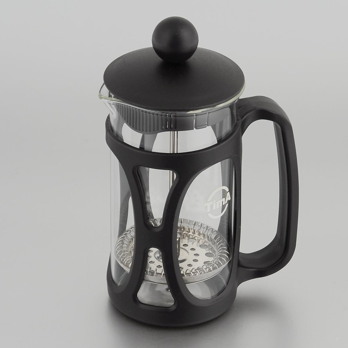 Френч-пресс TimA Маффин, 350 млPM-350Френч-пресс TimA Маффин, изготовленный из жаропрочного стекла ивысококачественного пластика, это совершенный чайник для ежедневногоиспользования. Изделие с плотной крышкой и удобной ручкой имеет специальныйпоршень с фильтром из нержавеющей стали для отделения чайных листьев отводы. После заваривания чая фильтр не надо вынимать. Заваривание чая - это приятное и легкое занятие. Френч-пресс TimA Маффинзаймет достойное место на вашей кухне.Нельзя мыть в посудомоечной машине. Объем: 350 мл. Диаметр (по верхнему краю): 7 см. Высота (без учета крышки): 13,5 см.