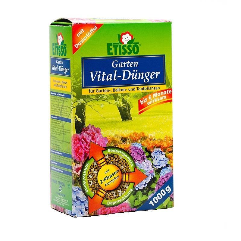 Гранулированное комплексное удобрение  Etisso  для цветов и газонов, 1 кг - Грунт и удобрения