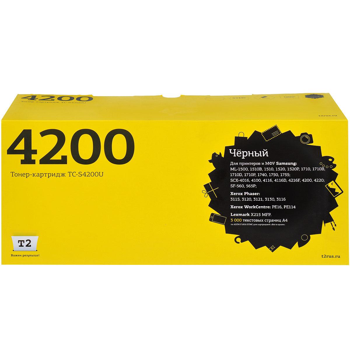 T2 TC-S4200U тонер-картридж для Samsung SCX-4200 картридж t2 tc cexv50 черный