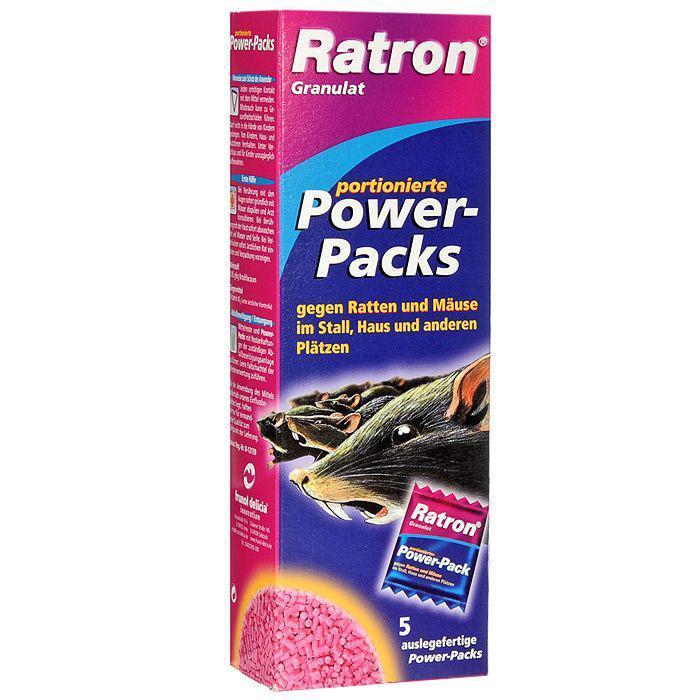 Гранулированная приманка Ratron для борьбы с крысами и мышами, 5 шт х 40 г