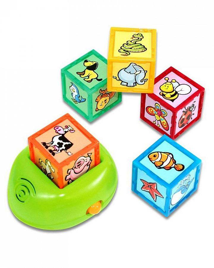 Развивающая музыкальная игрушка Kidz Delight Кубики с животными машинки kidz delight машинка полиция