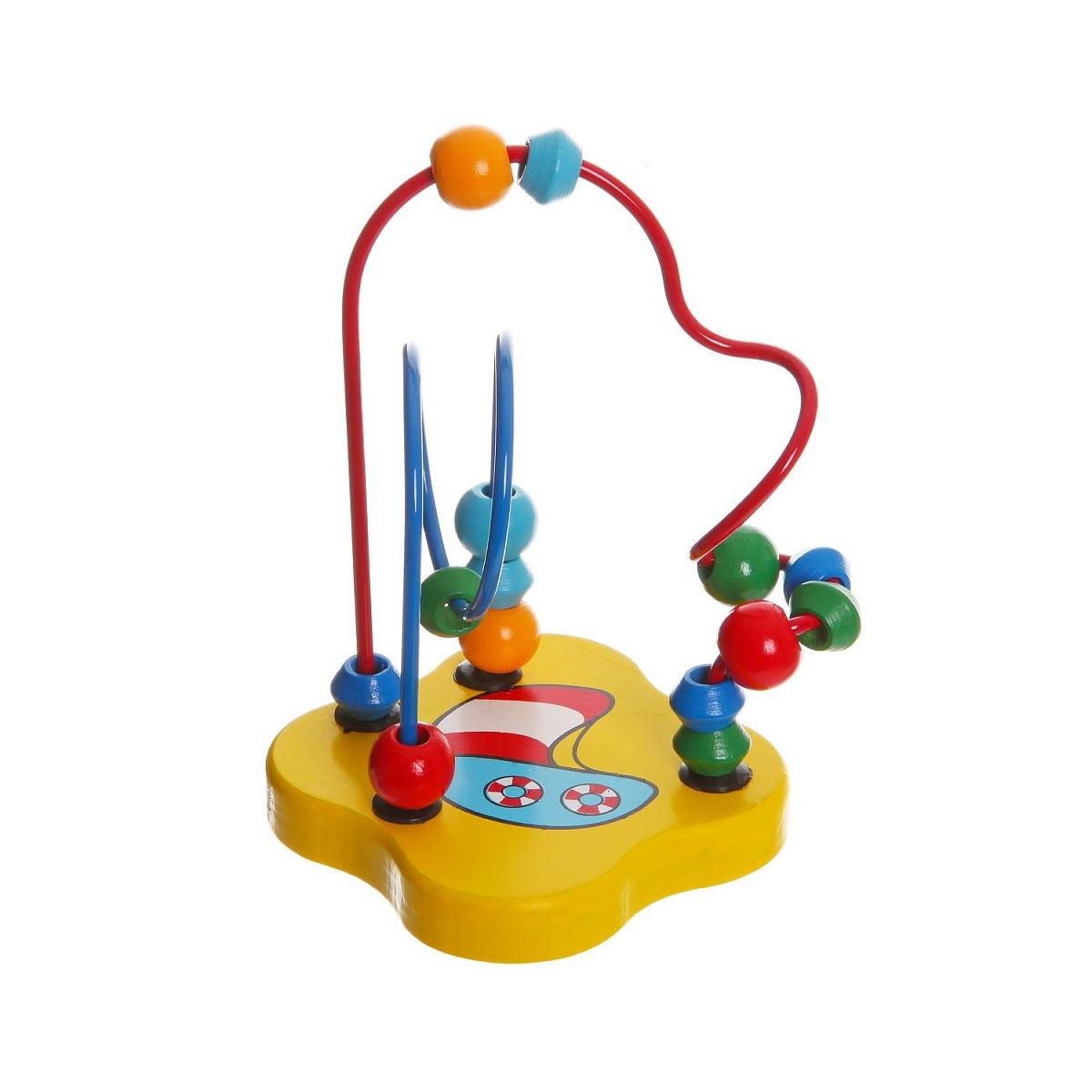 Развивающая игрушка Bondibon Разноцветный лабиринт конструкторы игрушки из дерева трамвай