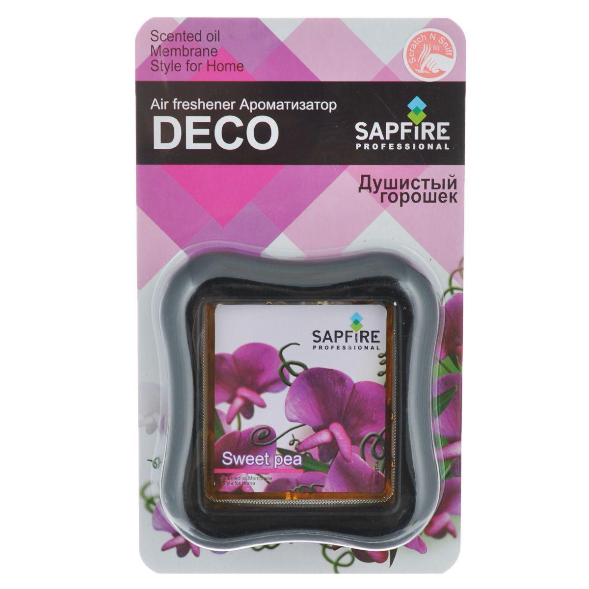 Ароматизатор в дефлектор Sapfire Deco, душистый горошек автомобильные ароматизаторы chupa chups ароматизатор воздуха chupa chups chp801