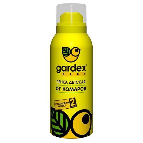 Пенка от комаров Gardex Baby, 75 мл0139Пенка от комаров для детей от 2 лет защищает в течение 2 часов. Приятная текстура - воздушная пенка с нежным ароматом. Теперь нанесение репеллентного средства можно превратить в игру. Характеристики:Состав: N,N-диэтилтолуамид - 7,5%, вода деминерализованная, стеариновая кислота, глицерин, цетеариловый спирт, эмульгаторы, отдушка, консервант, пропеллент углеводородный. Объем: 75 мл. Товар сертифицирован.