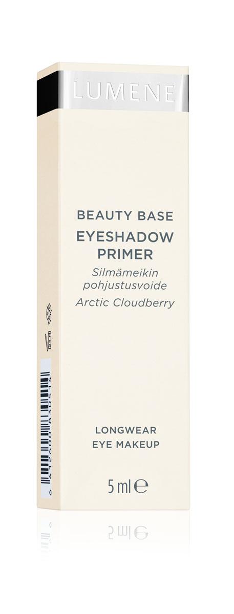 LUMENE База для макияжа век, 5 млNL34-83051• Для всех типов кожи.• База выравнивает кожу век для идеального и стойкого макияжа. • Обеспечивает ровное нанесение теней, карандашей, подводок. • Макияж глаз сохраняется в безупречном состоянии на протяжении всего дня. • Содержит масло семян арктической морошки, которое заряжает энергией, придаёт свежесть, увлажняет, ускоряет процессы регенерации, улучшает цвет кожи.1 универсальный оттенок.