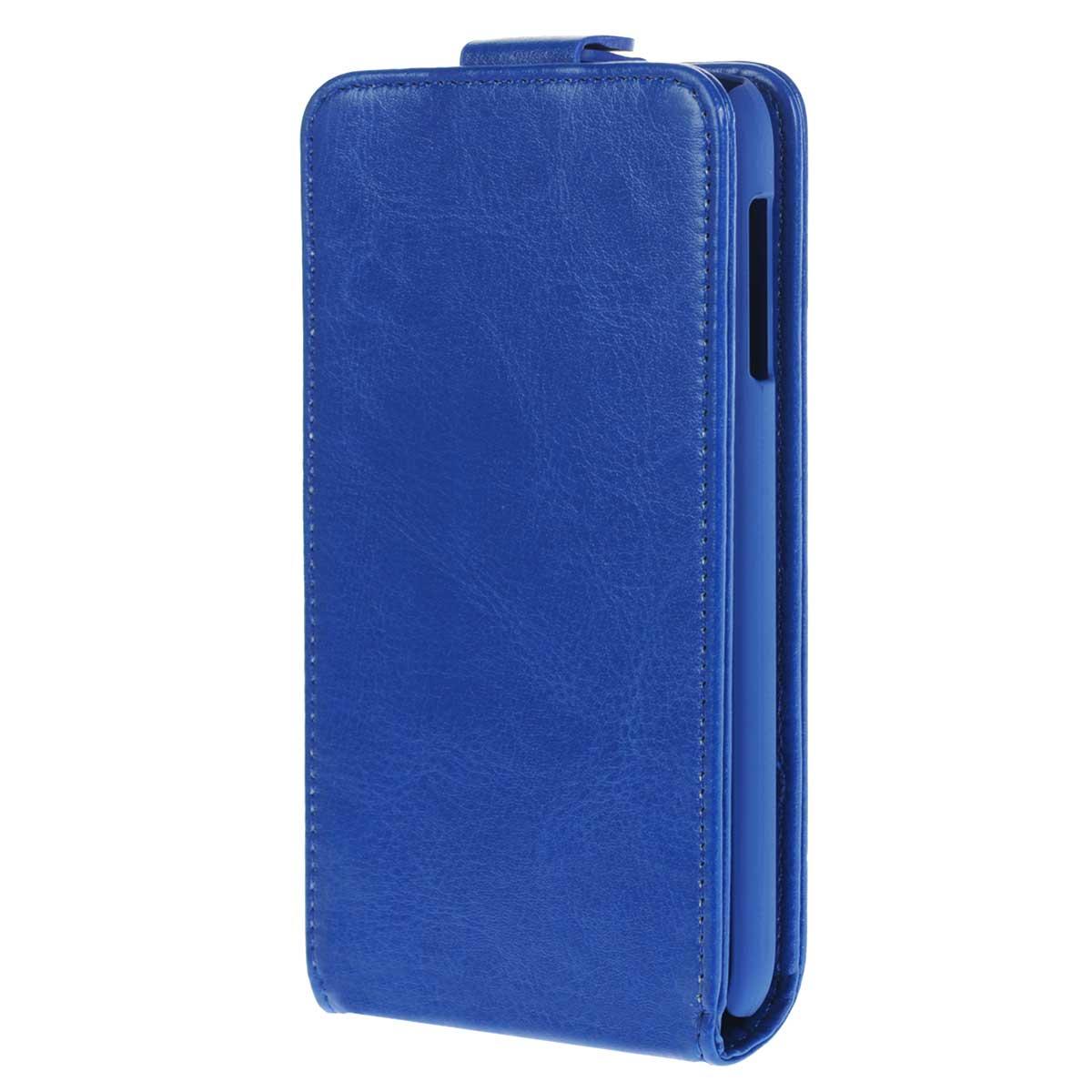 Skinbox Flip Case чехол для HTC Desire 510, BlueT-F-HD510Флип-кейс Skinbox для HTC Desire 510 не ограничивает функционал мобильного телефона. Адаптированная форма оставляет необходимые элементы устройства, такие как разъемы, камера, порт передачи данных, микрофон и динамики легко доступными.Качественная искусственная кожа, из которой изготовлен чехол, очень прочна и практична, а также идеально соответствует натуральной коже и создает приятные ощущения при касании. Смартфон фиксируется на жесткой основе из прочного пластика, которая не только защищает смартфон от ударов, но и максимально долго сохраняет свою форму. Передняя панель флип-кейса закрепляется магнитной застежкой, предотвращающей раскрытие чехла и повреждение дисплея вашего устройства.