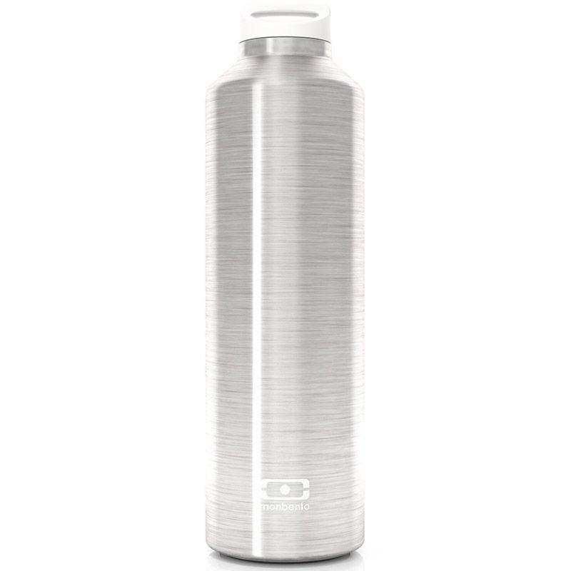 Бутылка Monbento Steel серебристая4011 01 000Бутылка с термоизоляцией для ежедневных и экстраординарных приключений! Она станет надежным компаньоном для бодрящего кофе, горячего чая или полезного смузи. Двойные стенки сохраняют напиток теплым (или холодным) до 12 часов, при этом внешние стенки не нагреваются, бутылку приятно держать в руках. Объем - 500 мл. Сделана из нержавеющей стали. В комплекте заварник для чая, который крепится к крышке и помещается прямо в бутылку. Бутылка герметична, не прольется ни капли. Изготовлена из безопасных материалов без примеси вредного бисфенола А (BPA free).Материал: нержавеющая сталь, пластик, цвет: металлик