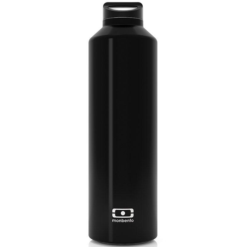 Бутылка Monbento Steel, цвет: черный, 500 мл4011 01 002Бутылка Monbento Steel с термоизоляцией для ежедневных и экстраординарных приключений! Она станет надежным компаньоном для бодрящего кофе, горячего чая или полезного смузи. Двойные стенки сохраняют напиток теплым (или холодным) до 12 часов, при этом внешние стенки не нагреваются, бутылку приятно держать в руках. Объем - 500 млСделана из нержавеющей стали.Бутылка герметична, не прольется ни капли. Изготовлена из безопасных материалов без примеси вредного бисфенола А (BPA free)