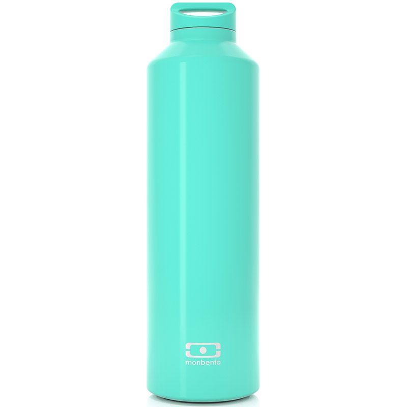 Бутылка-термос Monbento Steel, цвет: мятный, 500 мл4011 01 055Monbento Steel - это бутылка с термоизоляцией для ежедневных и экстраординарных приключений! Она изготовлена из нержавеющей стали с цветным наружным покрытием. Она станет надежным компаньоном для бодрящего кофе, горячего чая или полезного смузи. Двойные стенки сохраняют напиток теплым (или холодным) до 12 часов, при этом внешние стенки не нагреваются, бутылку приятно держать в руках. Бутылка герметична, не прольется ни капли. Изготовлена из безопасных материалов без примеси вредного бисфенола А (BPA free). В комплекте заварник для чая, который крепится к крышке и помещается прямо в бутылку. Высота (с учетом крышки): 23,5 см.Диаметр горлышка: 3,5 см.