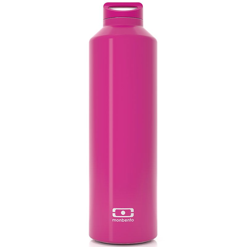 Бутылка Monbento Steel, цвет: фуксия, 500 мл4011 01 066Бутылка Monbento Steel с термоизоляцией для ежедневных и экстраординарных приключений! Она станет надежным компаньоном для бодрящего кофе, горячего чая или полезного смузи. Двойные стенки сохраняют напиток теплым (или холодным) до 12 часов, при этом внешние стенки не нагреваются, бутылку приятно держать в руках. Объем - 500 млСделана из нержавеющей стали.Бутылка герметична, не прольется ни капли. Изготовлена из безопасных материалов без примеси вредного бисфенола А (BPA free)