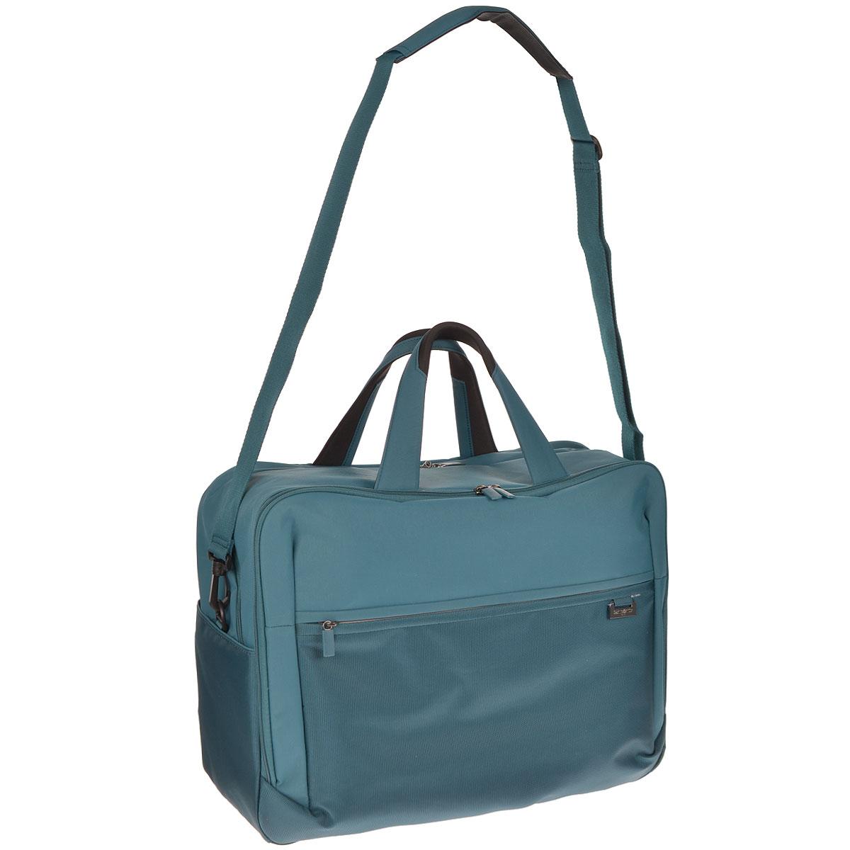 Сумка дорожная Samsonite Short-Lite, цвет: бирюзовый, 46,5 л68U-34004Samsonite Short-Lite – это удобный багаж, который разрабатывался для путешественников, не терпящих лишнего груза. Вместительная сумка позволяет взять с собой все необходимое, независимо от дальности перелета и длительности путешествия. Удобные ручки и плотные стенки, карманы с надежными молниями, ненавязчивая расцветка и эргономичное внутреннее пространство – все это доставит вам много удовольствия в поездках.Эргономичная и емкая, сумка из коллекции Short-Lite от Samsonite отличается невероятной легкостью и небольшими размерами, а это значит, что вы будете платить исключительно за вес багажа, а не за громоздкие тяжелые сумки.