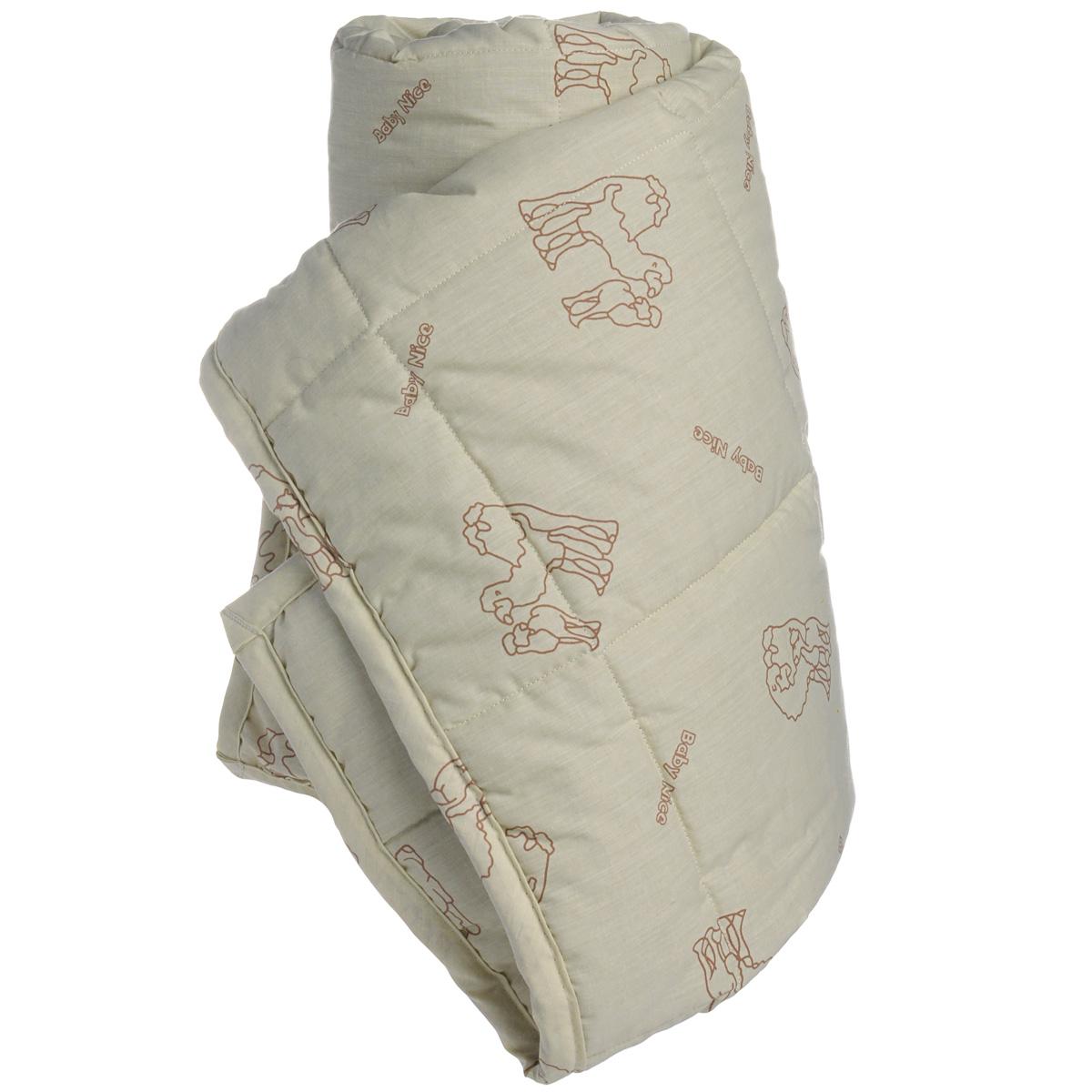 Одеяло детское  Baby Nice , стеганое, цвет: бежевый, 105 см x 140 см. Wa57085 - Детский текстиль