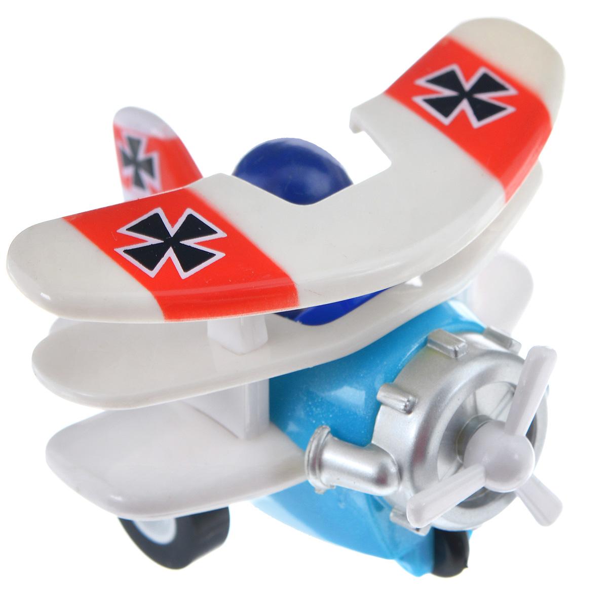 Hans Самолет инерционный цвет голубой белый