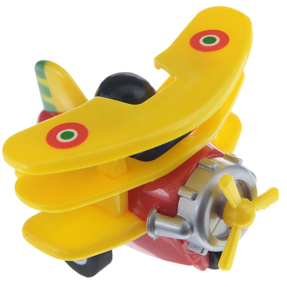 Hans Самолет инерционный цвет желтый красный hans