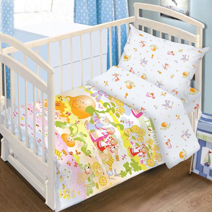 Комплект детского постельного белья Baby Nice Репка, цвет: голубой, 3 предметаC0115-3Детский комплект постельного белья Baby Nice Репка состоит из наволочки, пододеяльника и простыни на резинке. Такой комплект идеально подойдет для кроватки вашего малыша и обеспечит ему здоровый сон. Он изготовлен из натурального 100% хлопка, дарящего малышу непревзойденную мягкость. Натуральный материал не раздражает даже самую нежную и чувствительную кожу ребенка, обеспечивая ему наибольший комфорт. Простыня с помощью специальной резинки растягивается на матрасе. Она не сомнется и не скомкается, как бы не вертелся ребенок. Приятный рисунок комплекта, несомненно, понравится малышу и привлечет его внимание. На постельном белье Baby Nice Репка ваша кроха будет спать здоровым и крепким сном.В комплект входит подарок: книжка-раскраска по мотивам русских народных сказок.