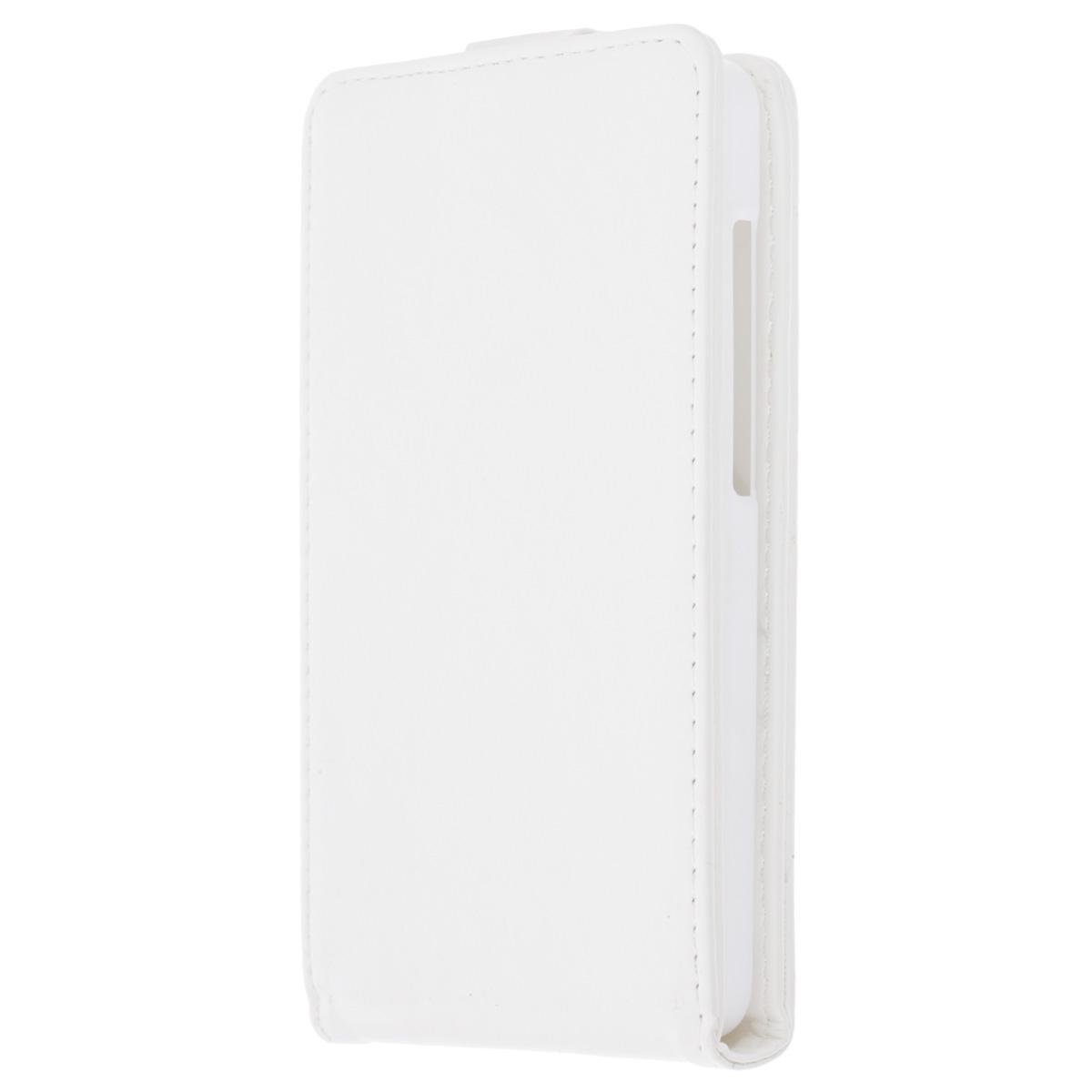 Skinbox Flip Case чехол для Asus Zenfone 5 Lite, WhiteT-F-AZP5LФлип-кейс Skinbox для Asus Zenfone 5 Lite не ограничивает функционал мобильного телефона. Адаптированная форма оставляет необходимые элементы устройства, такие как разъемы, камера, порт передачи данных, микрофон и динамики легко доступными.Качественная искусственная кожа, из которой изготовлен чехол, очень прочна и практична, а также идеально соответствует натуральной коже и создает приятные ощущения при касании. Смартфон фиксируется на жесткой основе из прочного пластика, которая не только защищает смартфон от ударов, но и максимально долго сохраняет свою форму. Передняя панель флип-кейса закрепляется магнитной застежкой, предотвращающей раскрытие чехла и повреждение дисплея вашего устройства.