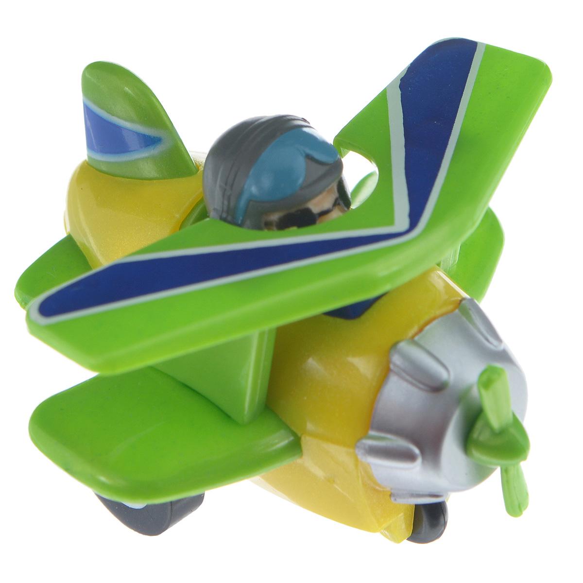 Hans Самолет инерционный цвет желтый зеленый инерционный самолет джером супер крылья