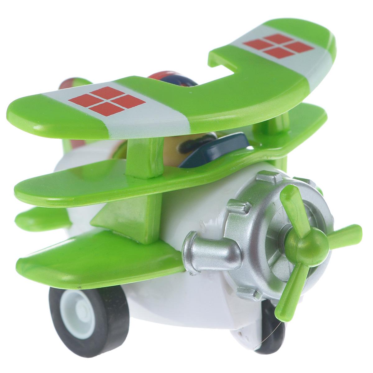 Hans Самолет инерционный цвет белый зеленый инерционный самолет джером супер крылья