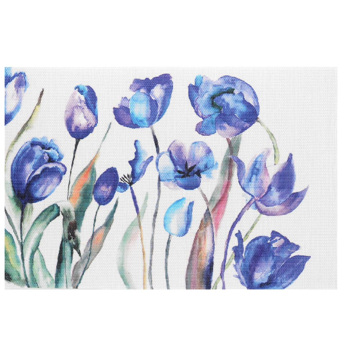 Подставка под горячее Hans & Gretchen Синие цветы, 45 х 30 см. 28HZ-901328HZ-9013Прямоугольная подставка под горячее Hans & Gretchen Синие цветы выполнена из мягкого пластика. Изделие, украшенное красочным изображением, идеально впишется в интерьер современной кухни. Подставка не боится высоких температур и легко чистится от пятен и жира. Каждая хозяйка знает, что подставка под горячее - это незаменимый и очень полезный аксессуар на каждой кухне. Ваш стол будет не только украшен оригинальной подставкой с красивым рисунком, но и сбережен от воздействия высоких температур ваших кулинарных шедевров. Размер подставки: 45 см х 30 см.