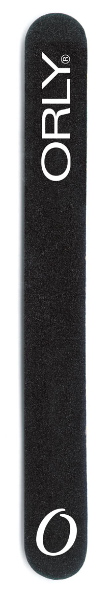 """ORLY Набор пилок для натуральных и искусственных ногтей """"BLACK BOARD FILE"""" с абразивом 180 ед., в наборе 5шт."""