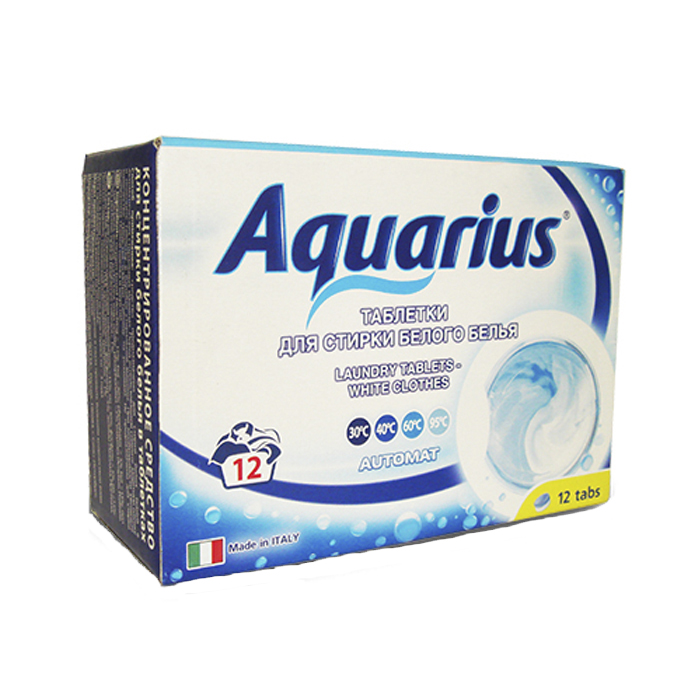 Таблетки для стирки белого белья Lotta Aquarius, 12 шт таблетки для стирки цветного белья lotta 12 шт