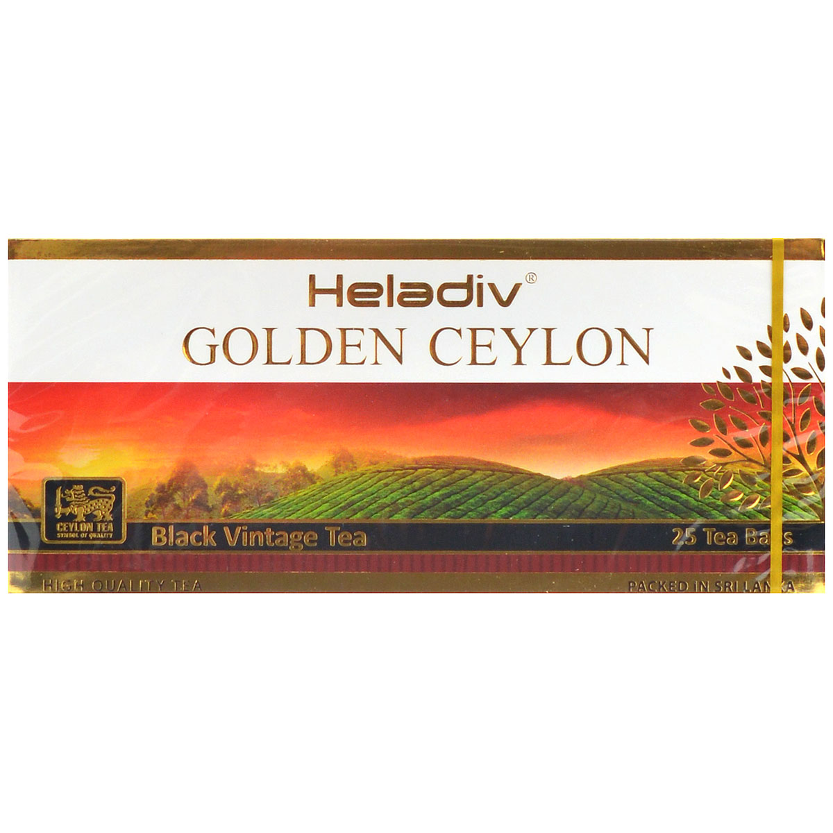 Heladiv Golden Ceylon Vintage Black черный пакетированный чай, 25 пакетиков fashion quartz gold two horse pocket watch antique man classic vintage fob watches men retro golden color black arabic hour gift