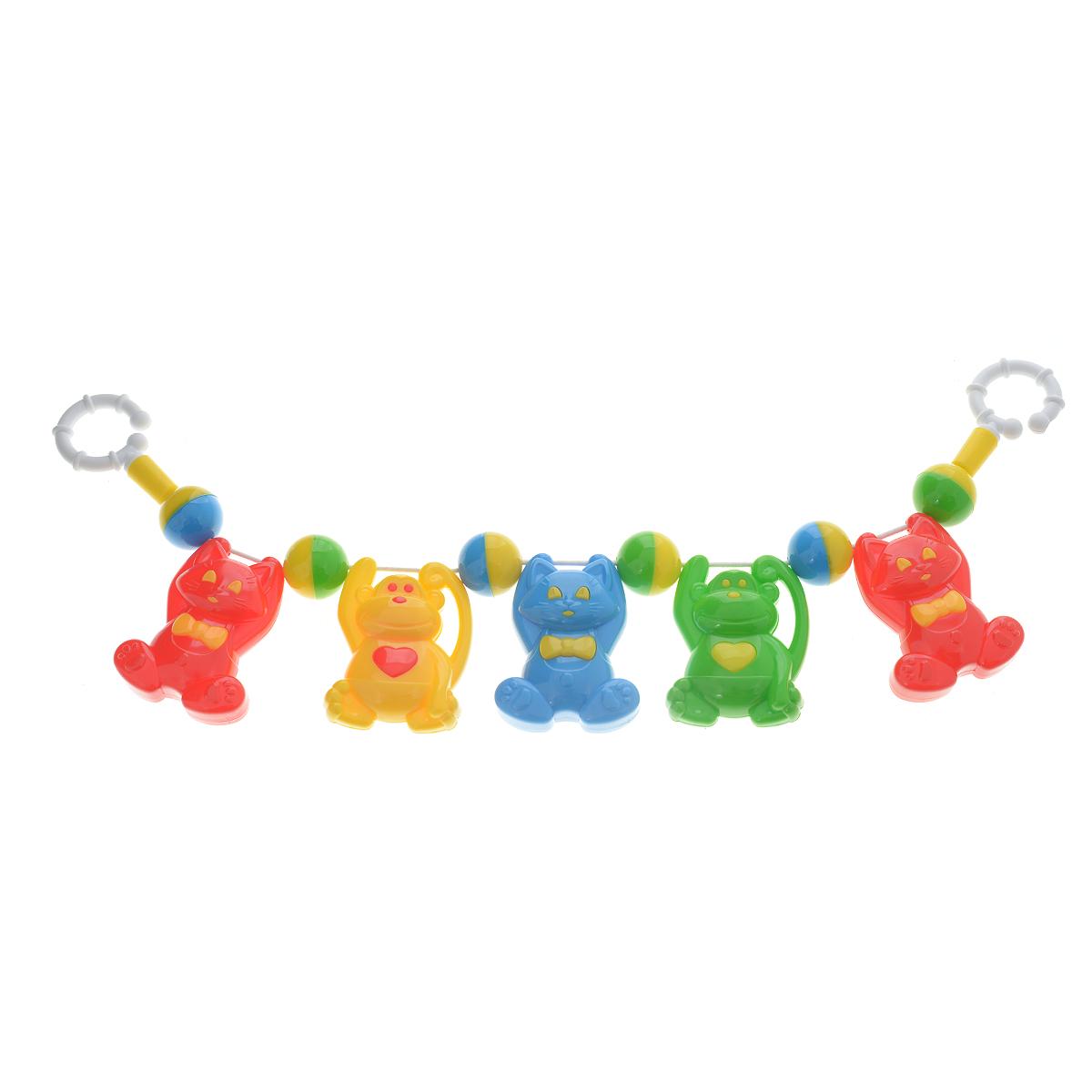 Погремушка подвеска на коляску Stellar-котята/обезьянки стеллар погремушка дудочка стеллар