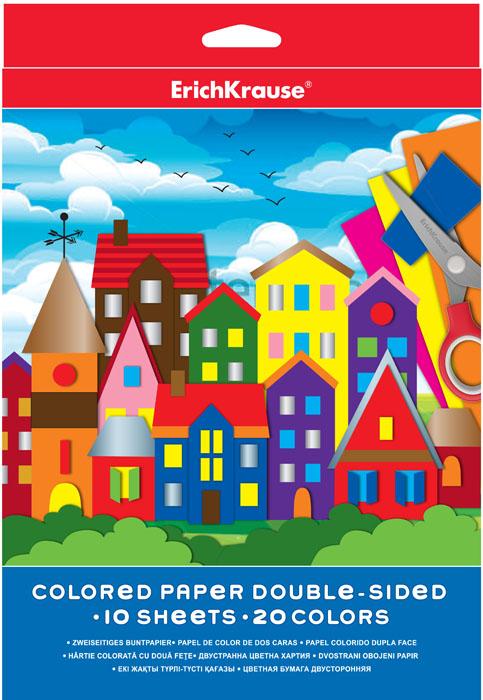 Цветная бумага Erich Krause, двусторонняя, формат А4, 20 цветов37194Набор цветной двусторонней бумаги Erich Krause идеально подойдет для занятий в детском саду, школе и дома. Большой выбор ярких, насыщенных цветов расширит возможности для создания аппликаций, объемных поделок и открыток.Рекомендуемый возраст: 3+.