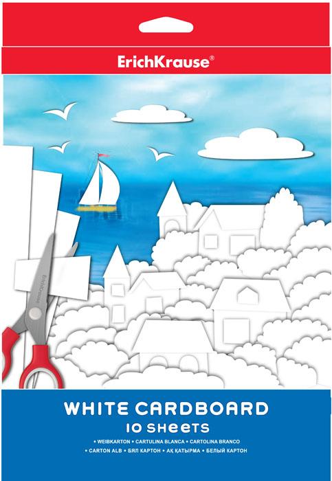 Набор белого картона Erich Krause, 10 листовЕК 37204Набор картона Erich Krause - это качественный, замечательный набор для детского творчества, который состоит из 10 листов белого картона. Набор позволит создавать всевозможные аппликации и поделки.Создание поделок из картона позволяет ребенку развивать творческие способности, кроме того, это увлекательный досуг.