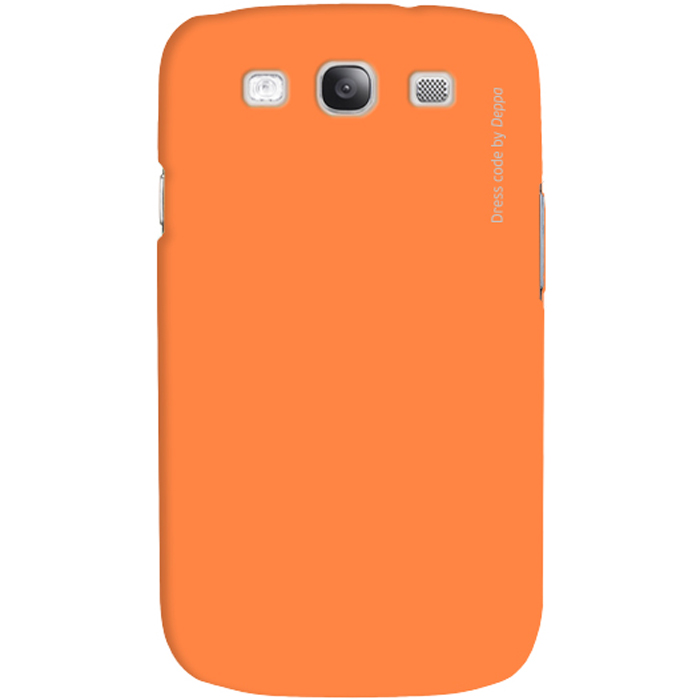 Deppa Air Case чехол для Samsung Galaxy SIII, Orange83023Чехол Deppa Air Case для Samsung Galaxy SIII предназначен для защиты корпуса смартфона от механических повреждений и царапин в процессе эксплуатации. Имеется свободный доступ ко всем разъемам и кнопкам устройства. Чехол изготовлен из поликарбоната Teijin производства Японии с покрытием Soft touch.