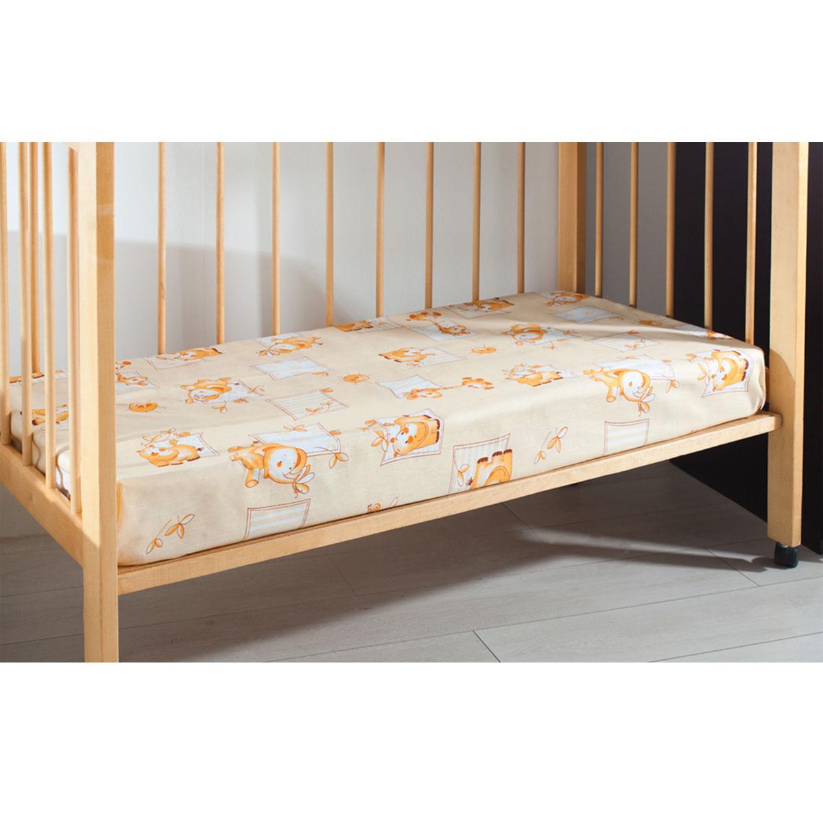 Простыня детская Primavelle, цвет: бежевый, 120 см х 180 см11461210-10Мягкая простыня на резинке Primavelle идеально подойдет для кроваткивашего малыша и обеспечит ему здоровый сон. Она изготовлена из натурального100% хлопка, дарящего малышу непревзойденную мягкость. Подарите вашему малышу комфорт и удобство!