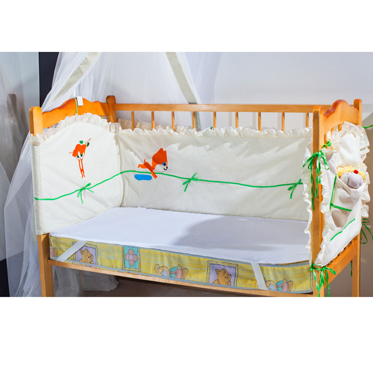 Наматрасник Primavelle Луиза, непромокаемый, цвет: белый, 60 см х 120 см sweet baby наматрасник непромокаемый sb k013