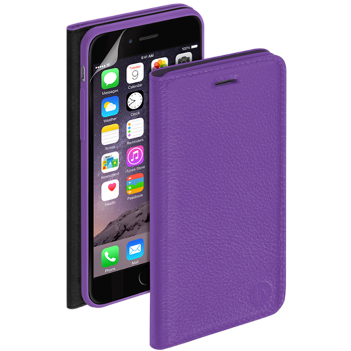 Deppa Wallet Cover чехол для Apple iPhone 6, Purple mooncase slim leather side flip wallet card slot pouch stand shell back чехол для lg f70 blue