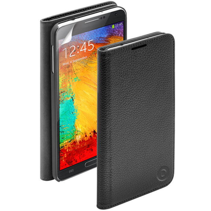Deppa Wallet Cover чехол для Samsung Galaxy Note 3, Black чехол deppa art case и защитная пленка для samsung galaxy s6 патриот крым ваш