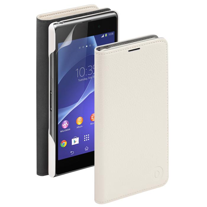 Deppa Wallet Cover чехол для Sony Xperia Z2, White84031Чехол Deppa Wallet Cover для Sony Xperia Z2 предназначен для защиты корпуса смартфона от механических повреждений и царапин в процессе эксплуатации. Имеется свободный доступ ко всем разъемам и кнопкам устройства. В комплект также входит защитная пленка из трехслойного японского материала PET.
