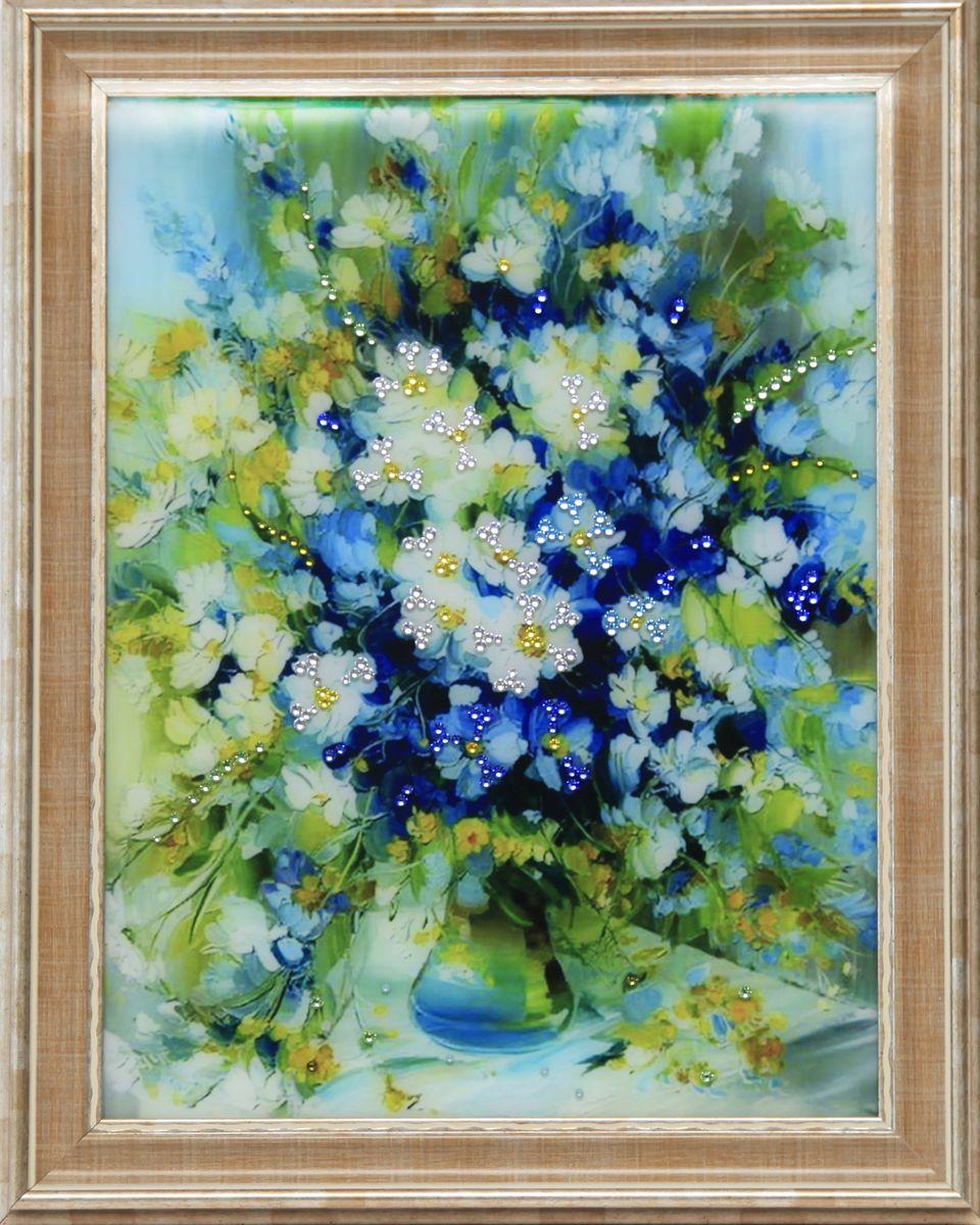 1627 Картина Сваровски Натюрморт Дыхание июня1627стекло, хрусталь, алюминий. 36,7х46,7