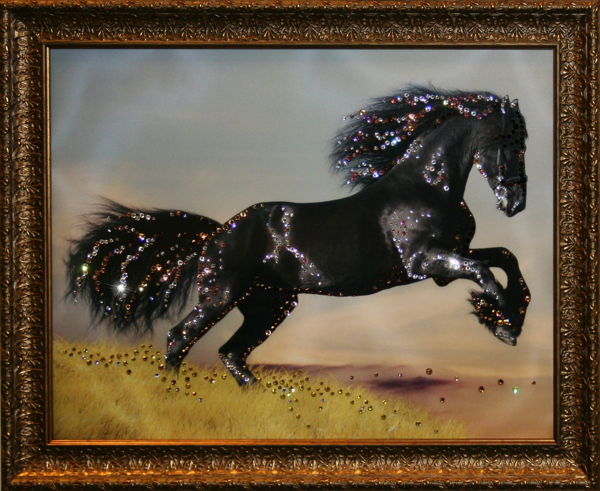 1611 Картина Сваровски Сила жизни1611стекло, хрусталь, алюминий. 46,5х36,5