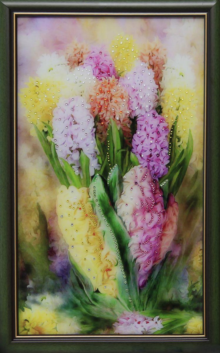 1620 Картина Сваровски Гиацинты1620стекло, хрусталь, алюминий. 43х68